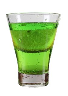 Free Green Cocktail In Cup Stock Image - 21274231