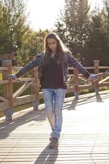 Free Teenage Girl With Steel Chain Stock Photography - 21274262