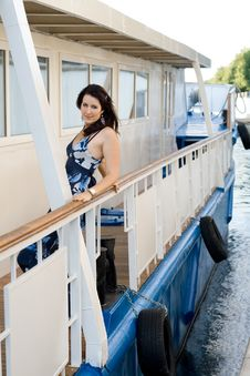 Free Girl Travels By Boat Royalty Free Stock Image - 21274406