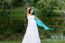 Free Beautiful Girl Standing Near River Royalty Free Stock Photos - 21274548