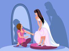 Free Fitting Wedding Dress Stock Photos - 21274983