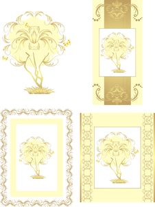 Free Stylized Golden Tree For Design Royalty Free Stock Image - 21278066