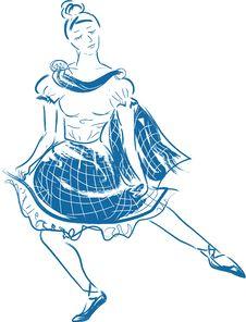 Free Scottish Dancer Stock Images - 21278094