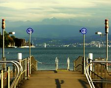 Zurich Switzerland Lake Pier Stock Images