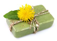Free Natural Soap With Dandelions Royalty Free Stock Photography - 21278997