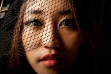 Free Portrait Of Asian Girl In Low Key Stock Photography - 21279052
