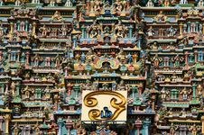 Meenakshi Hindu Temple In Madurai, South India Stock Photography