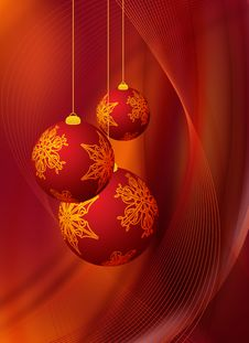 Free Red Christmas Design Stock Images - 21279324