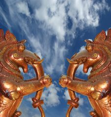 Free Statues Of Gods And Goddesses In The Hindu Temple Stock Photos - 21279493