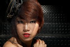 Free Portrait Of Asian Girl In Low Key Royalty Free Stock Photos - 21279598
