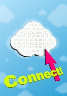 Free Symbol Of Cloud Computing Royalty Free Stock Photo - 21279825