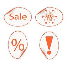 Set Of Labels For Christmas Sales. Eps10 Stock Photography
