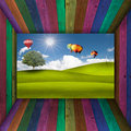 Free Multi Color Wooden Room Open To Beatiful View Stock Photos - 21281223