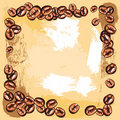 Free Coffee Beans Frame Royalty Free Stock Photography - 21281307