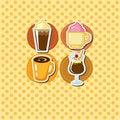Free Cartoon Coffee Card Royalty Free Stock Photos - 21284968