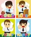 Free Cartoon Office Worker Card Stock Photos - 21284973