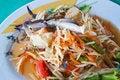 Free Thai Papaya Salad With  Horse Crab Stock Photography - 21285712