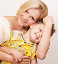 Free Happy Mother With Her Child Together On A White Stock Photo - 21287960