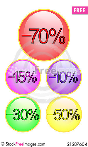 Free Discount Button Stock Images - 21287604