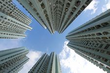 Free Hong Kong Crowded Apartment Blocks Stock Photos - 21280153