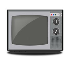 Free Illustration Of Retro TV On White Background Stock Images - 21280334