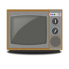 Free Illustration Of Retro TV On A White Background Royalty Free Stock Photos - 21280398