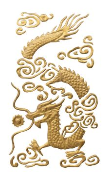 Chinese Dragon Isolated On White Stock Images