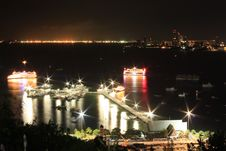 Free Night View Of The Pattaya City Stock Photo - 21280450