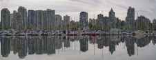 Free Reflection At Vancouver BC Waterfront Marina Royalty Free Stock Photos - 21280708