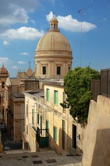 Free San Nicolo Cathedral In Noto Viewed From Above Stock Photography - 21280832