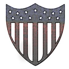 Corroded Metal USA Flag Royalty Free Stock Images