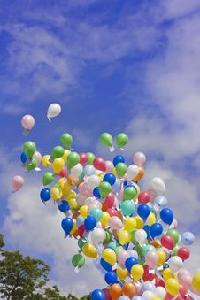 Free Balloon Race Portrait Stock Images - 21281014