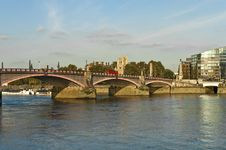 Free Lambeth Bridge At London Stock Image - 21281101
