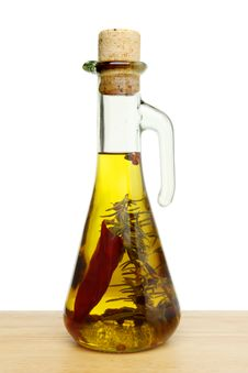Free Flavoured Olve Oil Royalty Free Stock Photography - 21281167