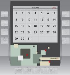 Free Calendar 2012 Year Royalty Free Stock Images - 21282209