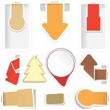 Free Set Of Stickers. Stock Photography - 21282232