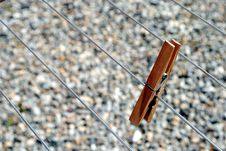 Free Clothes Peg Standing On The Line Stock Photography - 21282532