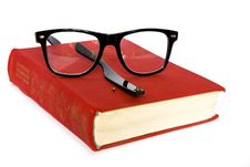 Book And Glasses Broken Stock Image