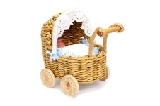 Free Paper Doll Stroller With Isolated On White Royalty Free Stock Photos - 21282908