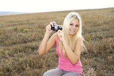 Free Close Up Of A Girl Clicking Camera Royalty Free Stock Photos - 21282968