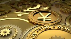 Free Time Is Money. Yen Currency Highlights. Stock Image - 21283091