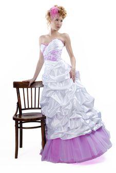 Free Beautiful Girl In Wedding Dress Stock Photo - 21283130