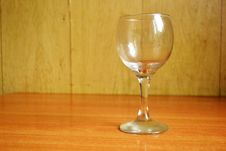 Free Wine Glass On The Wooden Table Stock Photography - 21283202