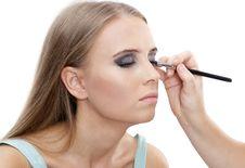 Free Beautiful Woman With Bright Make-up Stock Image - 21283281