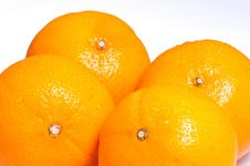 Free Four Ripe Oranges Stock Images - 21283684
