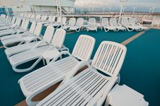 Free Sun Tanning Chairs On Deck Royalty Free Stock Photography - 21284257