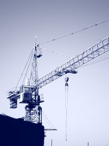 Free Tower Crane Stock Image - 21284591