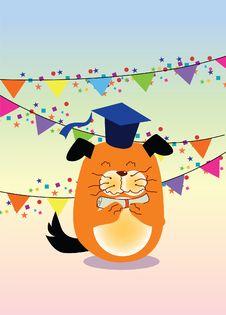 Free Graduation, Dog Stock Images - 21284614