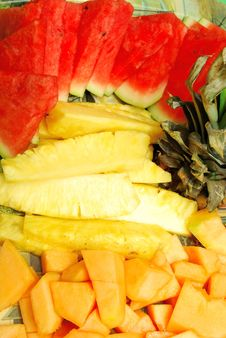 Free Closeup Of Fruit Plate Stock Images - 21285054