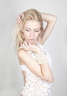 Free Young Beautiful Blond Woman With Long Royalty Free Stock Photography - 21285137